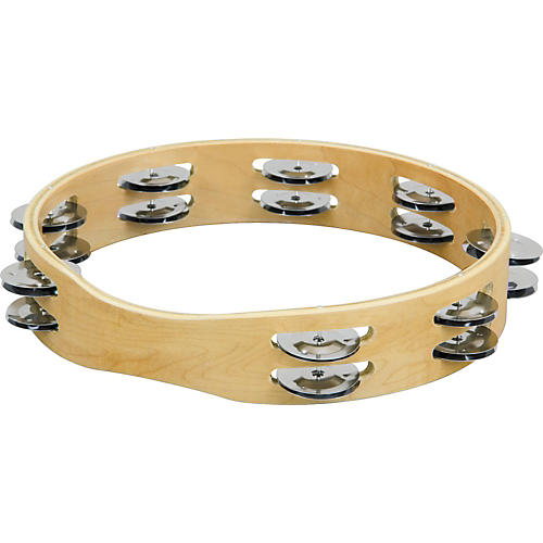 Sound Percussion Labs PDM1016M-R Double Row Tambourine  10 in.