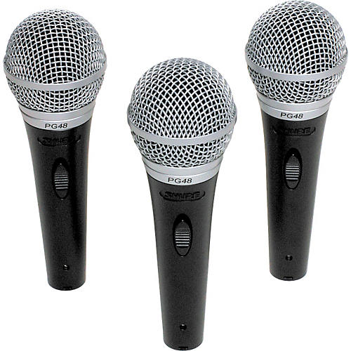 Shure PG48 Microphone 3-Pack