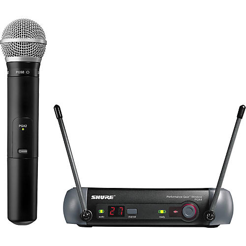 Shure PGX24/PG58 Handheld Wireless System