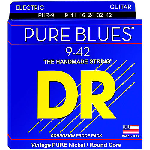 DR Strings PHR9 Pure Blues Nickel Light Electric Guitar Strings