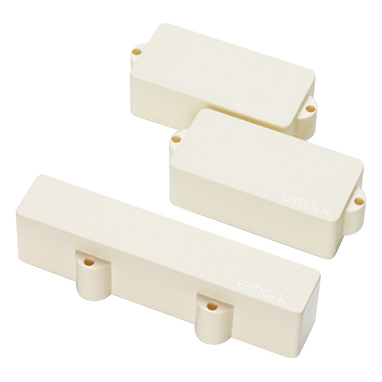 EMG PJ-X Active Bass Pickup Set IVORY