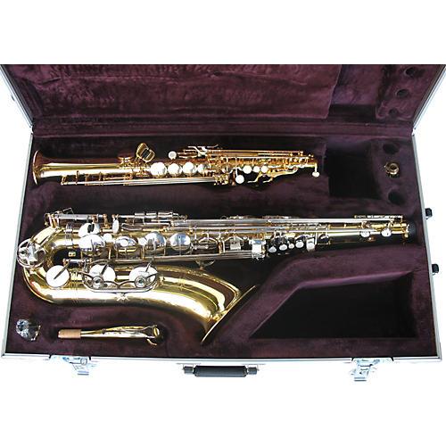 Calzone i Series PJL-TN/SOPSX1W I Series Tenor/Straight One Piece Soprano Sax Case with Wheels-thumbnail