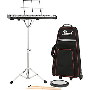 Pearl pk910c educational bell kit with rolling cart 8 in for Yamaha student bell kit with backpack and rolling cart