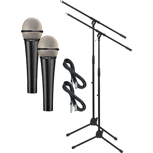 Electro-Voice PL24 with Cable and Stand 2 Pack