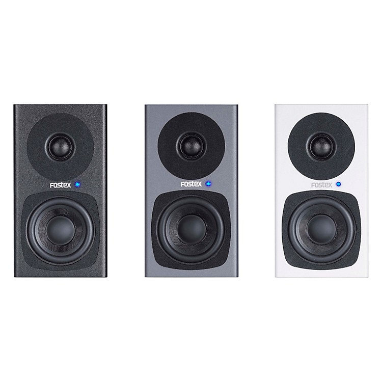 Fostex PM0.3 3 Inch Studio Monitors (Pair) Grey