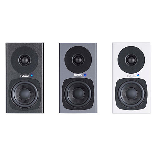 Fostex PM0.3 3 Inch Studio Monitors (Pair) Gray