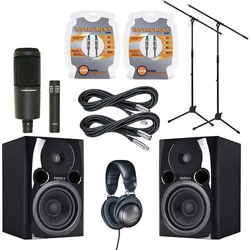 Fostex PM04N Monitor and A/T Mic Package-thumbnail