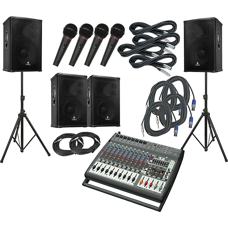 Behringer PMP4000 / B1520 Pro / B1220 Pro PA Package