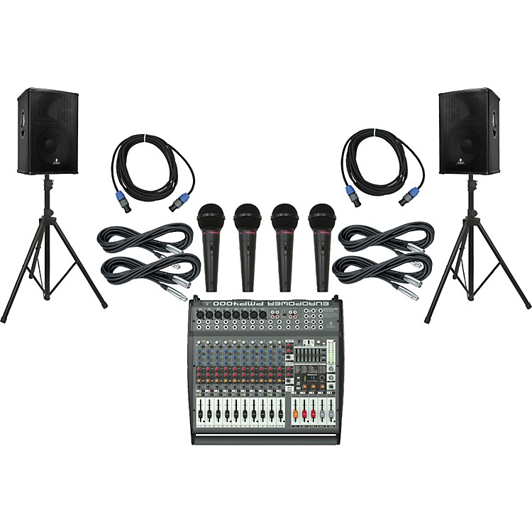 Behringer PMP4000 / B1520 Pro PA Package