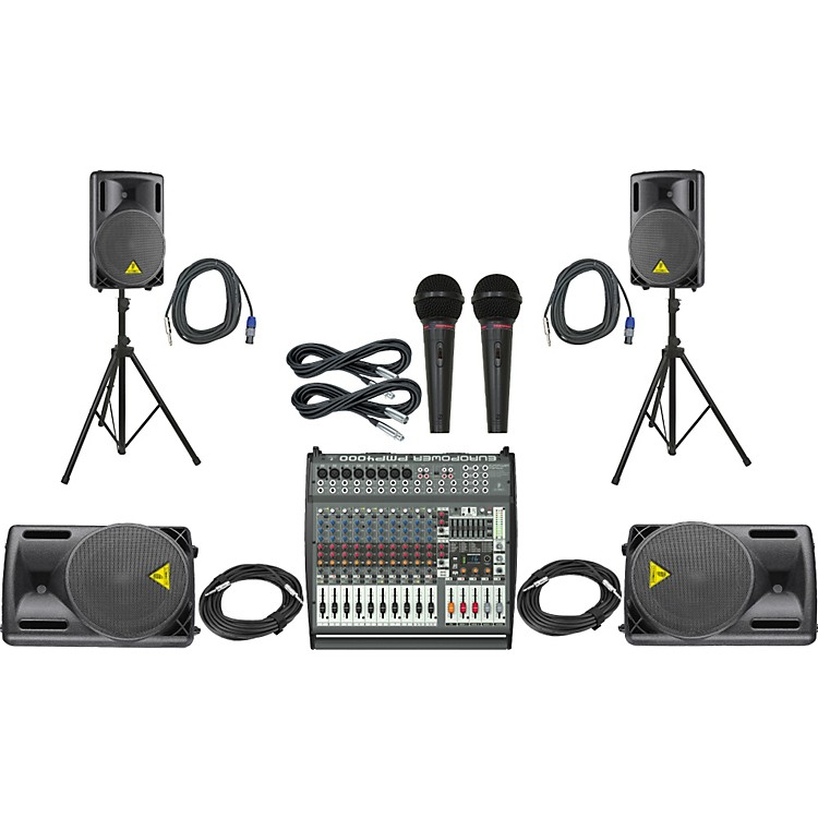 BehringerPMP4000 / B212XL Mains Monitors & Mics Package