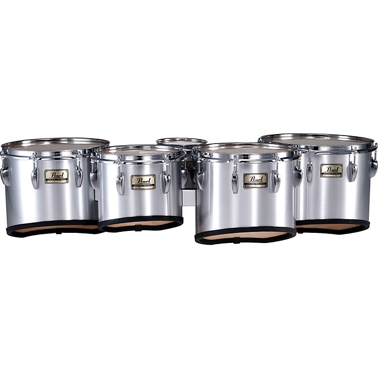 PearlPMT-60234/A Championship Maple Marching Quint Tom Set 6, 10, 12, 13, 14#26 Brushed Silver6 X 8