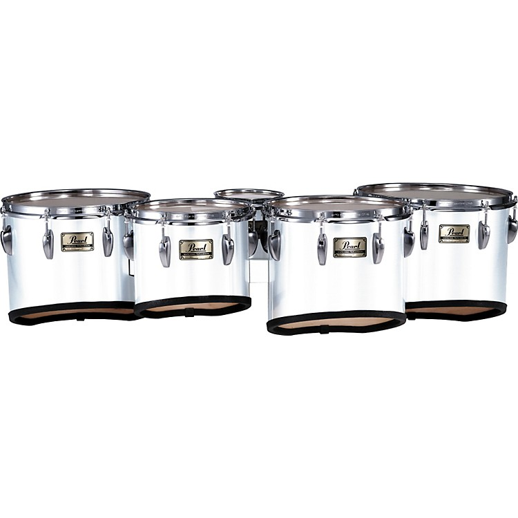 Pearl PMT-60234/A Championship Maple Marching Quint Tom Set 6, 10, 12, 13, 14 #33 Pure White 6 X 8