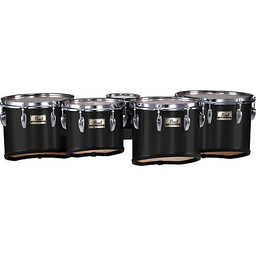 Pearl PMT-60234/A Championship Maple Marching Quint Tom Set 6, 10, 12, 13, 14 Midnight Black (#46) 6 X 8