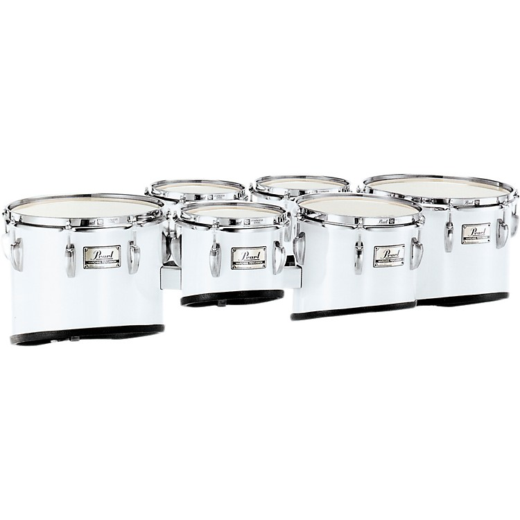 Pearl PMT-660234/A Championship Maple Marching Sextet Tom Set 6, 6, 10, 12, 13, 14 #33 Pure White 6 X 8