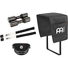Meinl PP-8 Cajon Accessory Pack with Cajon Blanket, Brushes, Live Shaker and Free Compact Foot Tambourine