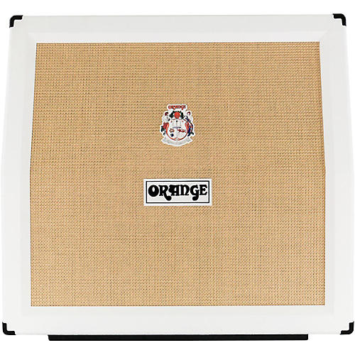 Orange Amplifiers PPC Series PPC412AD 240W 4x12 Angled Front Compact Closed-Back Guitar Speaker Cabinet in Limited Edition White-thumbnail