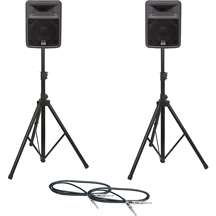 PeaveyPR 10 Speaker Pair with Stands and Cables