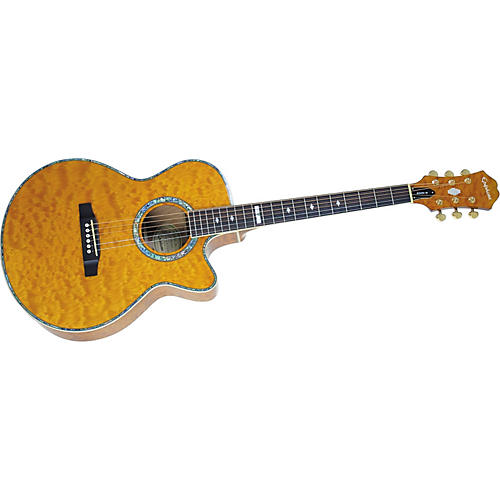 Epiphone PR-6E Quilt Top Acoustic-Electric Guitar