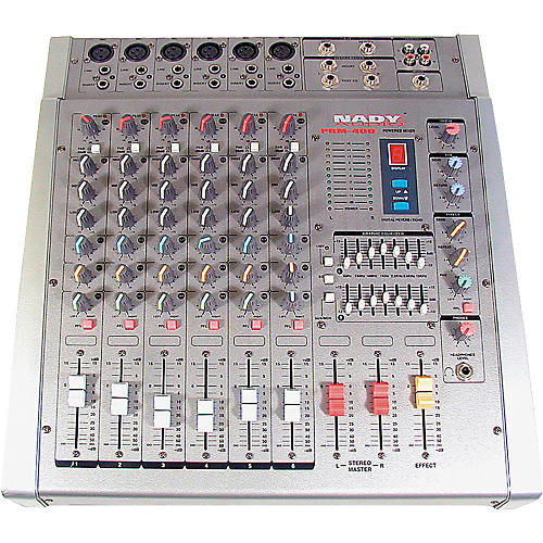 Nady PRM-400 6-Channel 200W/Side Stereo-Powered Mixer-thumbnail