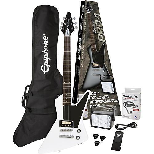Epiphone PRO-1 Explorer Electric Guitar Pack Alpine White