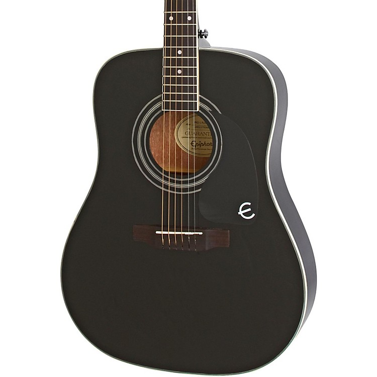 epiphone pro 1 plus acoustic guitar ebony musician 39 s friend. Black Bedroom Furniture Sets. Home Design Ideas
