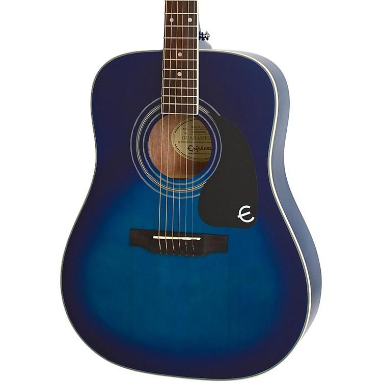 epiphone pro 1 plus acoustic guitar trans blue musician 39 s friend. Black Bedroom Furniture Sets. Home Design Ideas