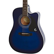 PRO-1 Ultra Acoustic-Electric Guitar Transparent Blue