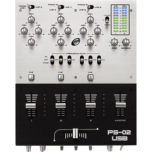Gemini PS-02 3-Channel Stereo Tabletop Mixer