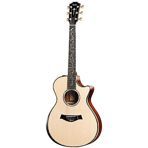 Taylor PS12ce Presentation Series Cocobolo/Spruce Grand Concert Acoustic-Electric Guitar-thumbnail