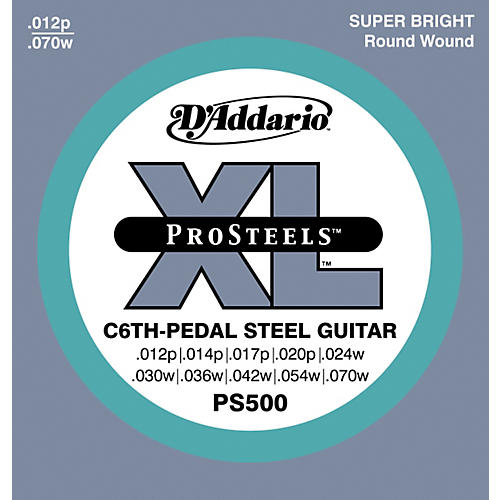 D'Addario PS500 ProSteels C6th Pedal Steel Guitar Strings