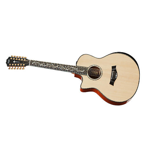 Taylor PS56ce-L Presentation Series Cocobolo/Spruce Grand Symphony 12-String Left-Handed Acoustic-Electric guitar-thumbnail