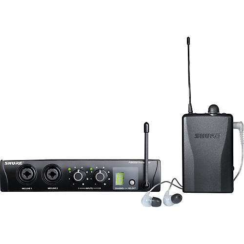 Shure PSM200 Wireless Personal Monitoring System with SE115-CL Earphones