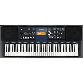 Yamaha psr e333 61 key mid level portable keyboard for Yamaha professional keyboard price
