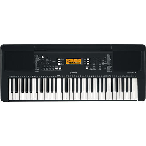 yamaha psr e363 61 key portable arranger keyboard black musician 39 s friend. Black Bedroom Furniture Sets. Home Design Ideas