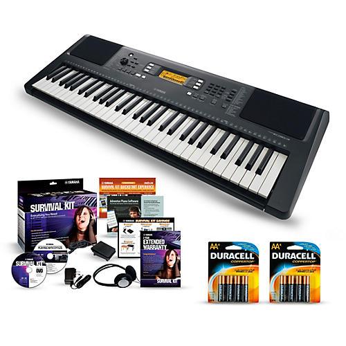Yamaha psr e363 61 key portable keyboard packages for Yamaha psr e363