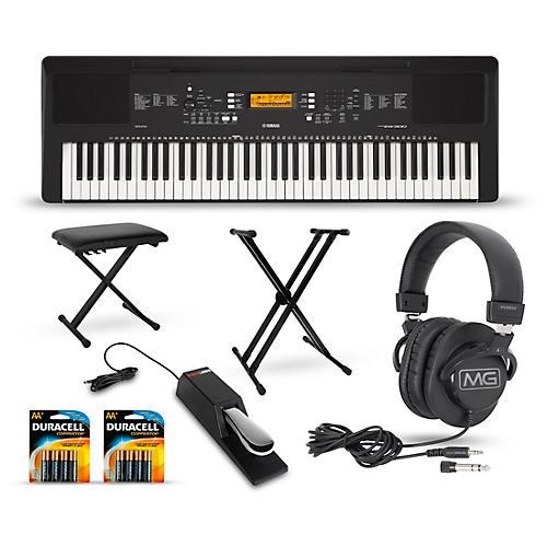 Yamaha psr ew300 76 key portable keyboard package for Yamaha psr ew300 keyboard
