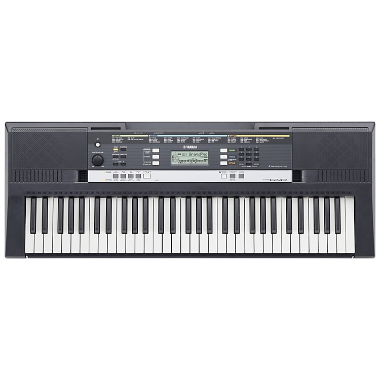 Yamaha psre243 61 key entry level portable keyboard for Yamaha learning keyboard