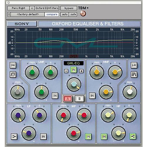 Sony PTH-GEQG2 Oxford EQ + GML Plug-in for Pro Tools TDM