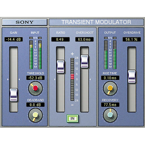 Sony PTH-TMDG2 Oxford Transient Modulator Plug-in for Pro Tools TDM