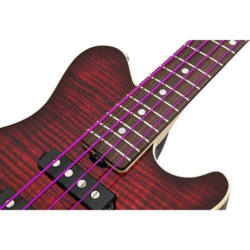 DR Strings PURPLE PASSION COATED 4 STRING BASS MEDIUM (45-105)