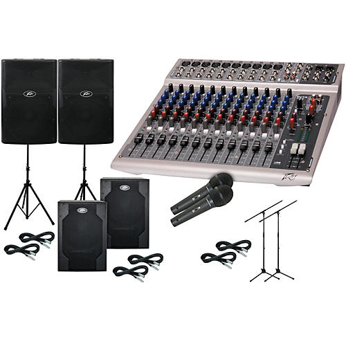 Peavey PV 14 USB/PVXp 12 with Subs PA Package