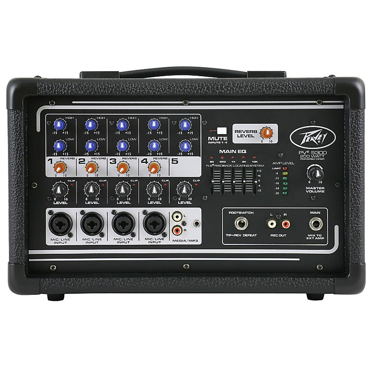 Peavey PV 5300 5-Channel Powered Mixer Black