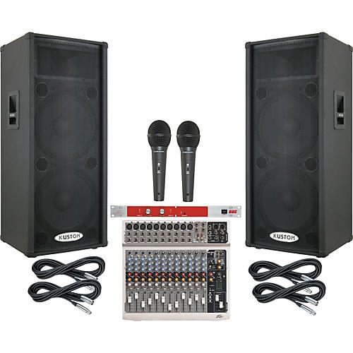Peavey PV14 / Kustom KPC215P PA Package with BBE 382i