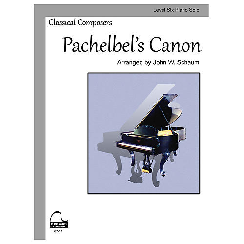 SCHAUM Pachelbel's Canon (Schaum Level Six Piano Solo) Educational Piano Book by Johann Pachelbel-thumbnail