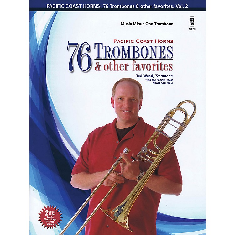 Hal Leonard Pacific Coast Horns - 76 Trombones & Other Favorites, Vol. 2 for Trombone Book/2CD