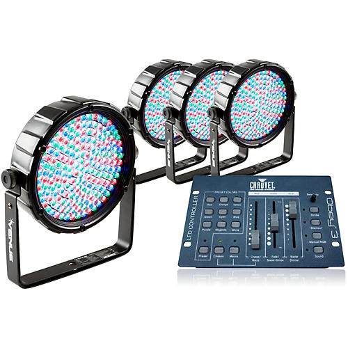 Venue Package of 4 Thinpar64 LED PAR Lights with Obey 3 Controller-thumbnail