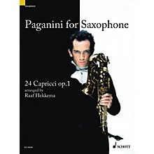 Schott Paganini for Saxophone (24 Capricci, Op. 1 Soprano or Alto Saxophone) Woodwind Series