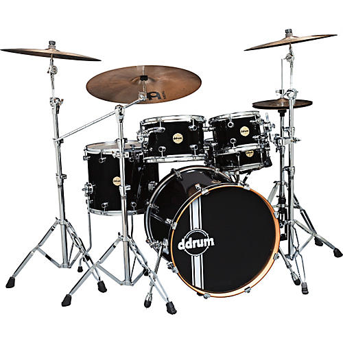 Ddrum Paladin Maple 5-Piece Shell Pack Piano Black-thumbnail