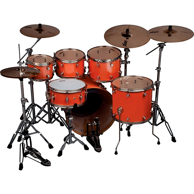 ddrumPaladin Maple 6-Piece High Boy Shell PackVintage Coral Sparkle LacquerNickel Hardware