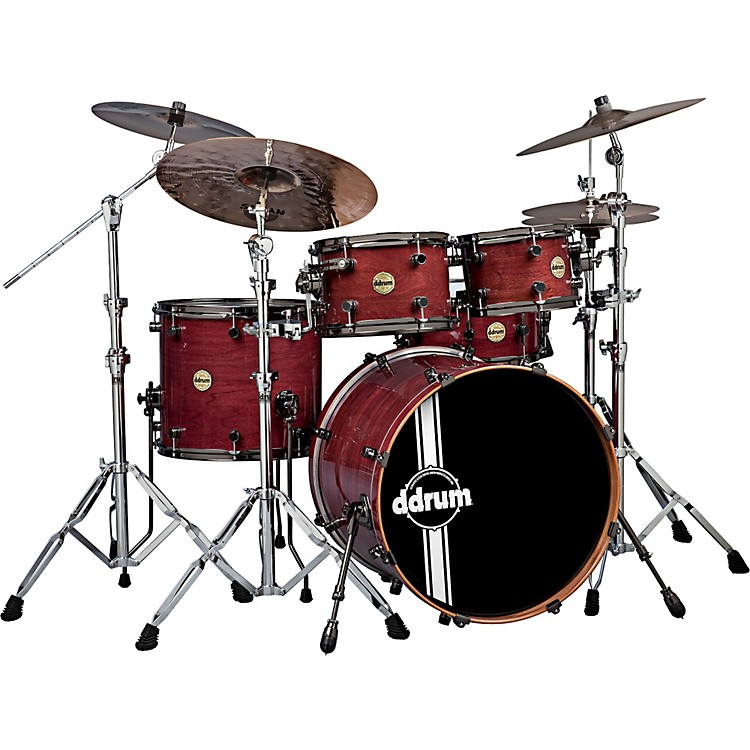 ddrum Paladin Walnut 5-Piece Shell Pack Ember Red